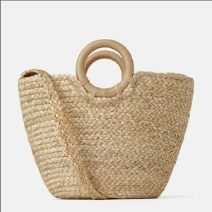 Zara Natural Jute Tote Bag
